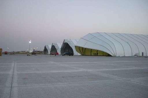 Aviation Hangar temporary