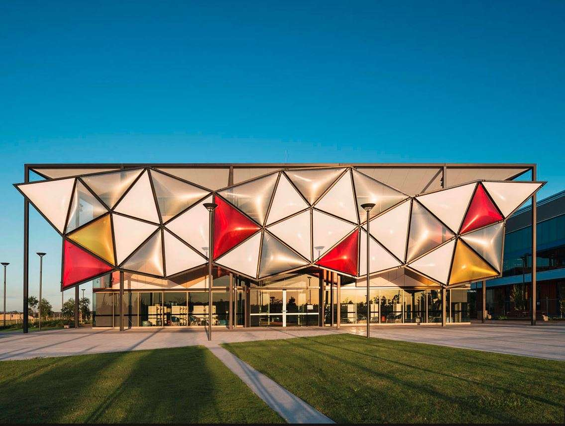 Fabritecture Oran Park Library ETFE Fabric Structure building facade