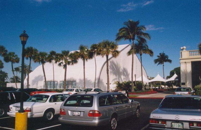 tension fabric structure in Vegas used as a convention or trade show building