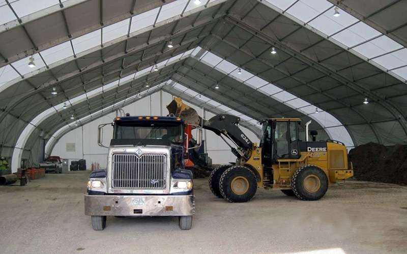 A Clear Span Construction Tent for Your Job Site