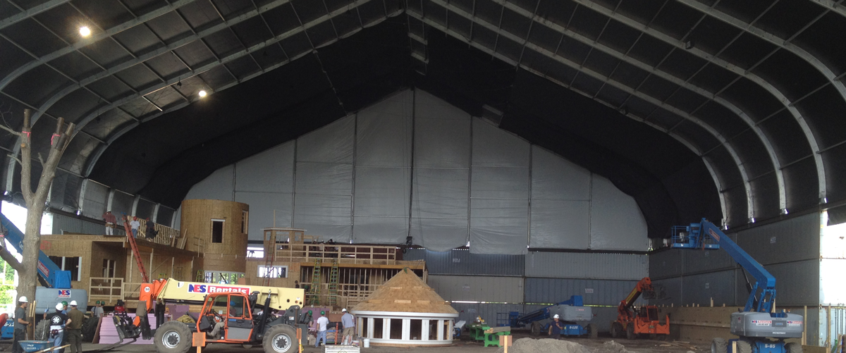 Clear Span Fabric Buildings Great Solution for Filmmaking, TV and Events
