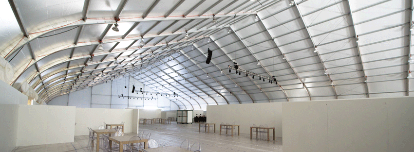 tensioned fabric structure configured for convention space