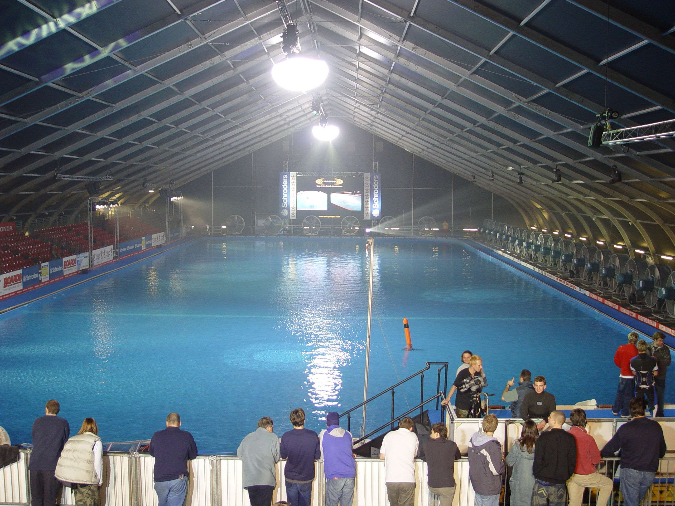 indoor swimming pool facility protected by fabric building
