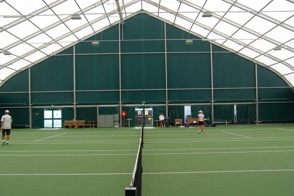 Fabric aluminum frame indoor tennis court sports structure