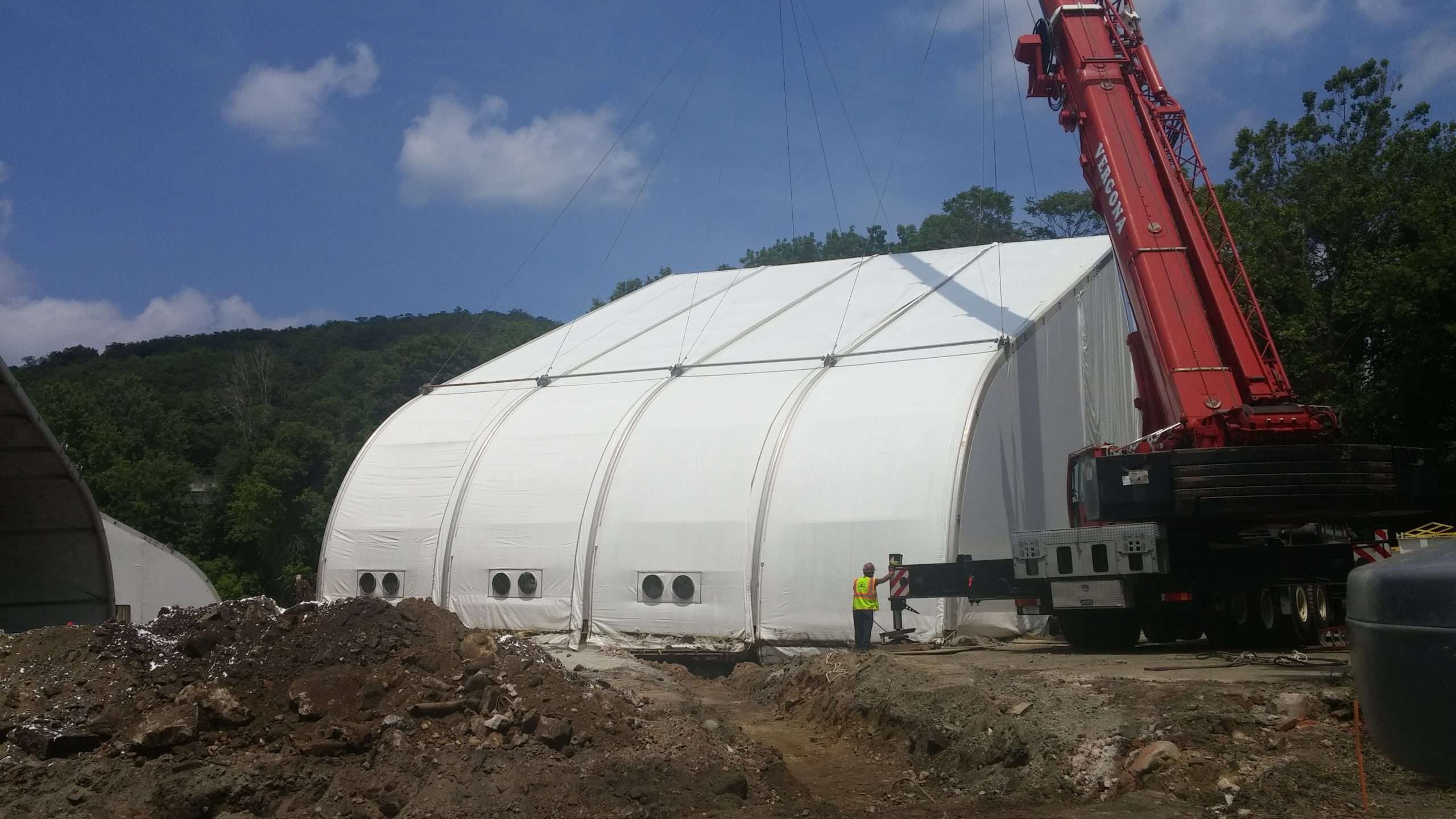 Tension Fabric Structure in use a at mining operation location