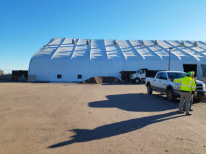tension fabric construction building